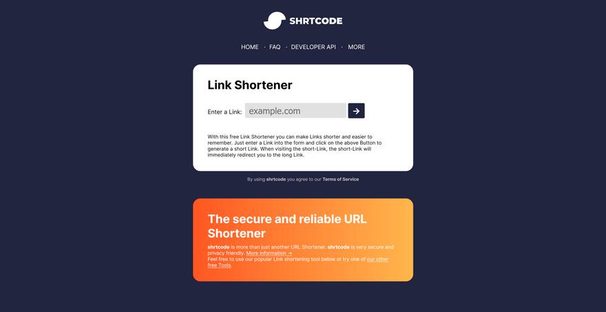 shrtcode screenshot